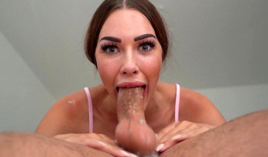 The model gave the designer a royal blowjob close-up on the camera