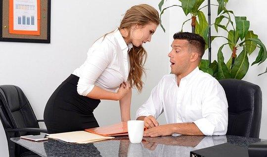 Blondes lush Tits Secretary seduced chief