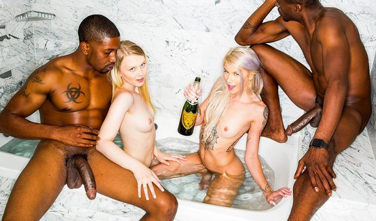 Negros fuck crowd sexy blondes with long legs
