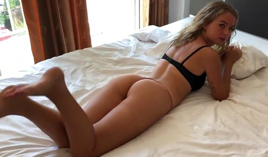 Girl in lingerie is not against home anal sex with a friend