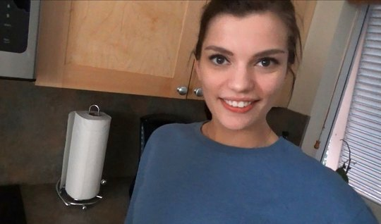 Young stepsister on camera close-up agreed to shoot homemade porn