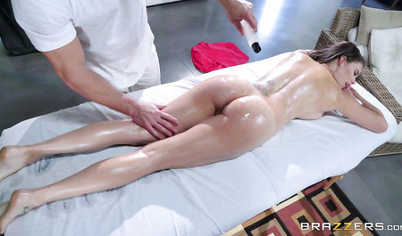 After the massage guy fucked a client with big Tits