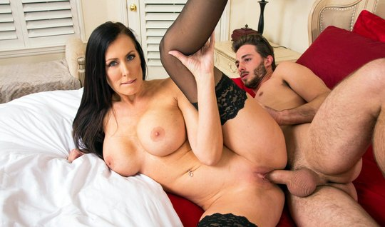 Young lover was drilling a member of the sex nurse with big milkings