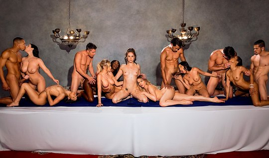 Luxury evening old friends ended a wild and passionate Orgy
