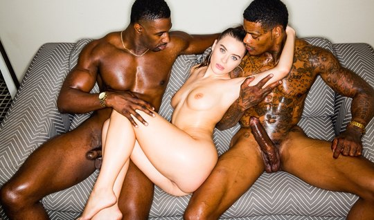 Two inflated black man fucked the young whore in all holes