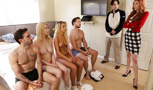 Swingers arranged in bedroom group porn now