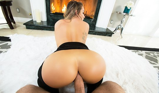 Cute girl with a big butt works on a dick anal