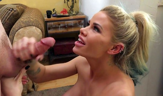 Blond girl loves anal sex and cumshot in the final