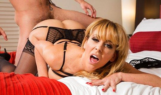 The boy licked Mature whore and her holes fucked passionately