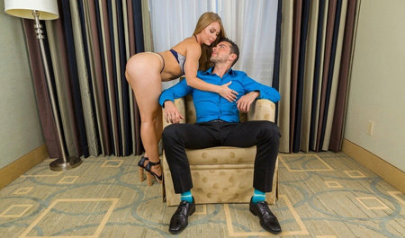 Sexy blonde night gently fucked with her lover