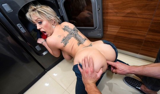 Mature mom with a big ass gets orgasm sex in the bathroom