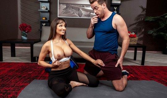 Nurse with big Tits seduced for sex his yoga teacher
