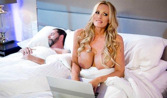 While husband sleeps Mature woman brought to orgasm hostage lover