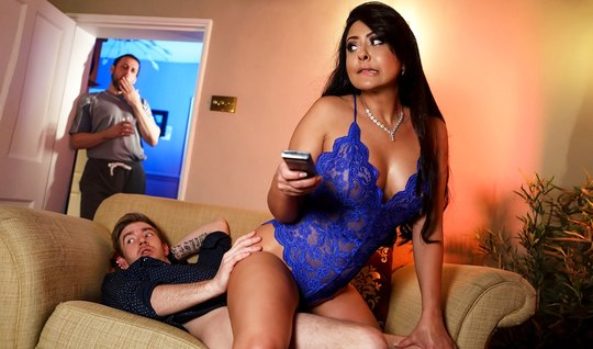 Wife with big milkings after Cooney jumps on dick of her lover and cums
