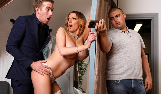 Wife with big milkings cheating on her husband with his best friend
