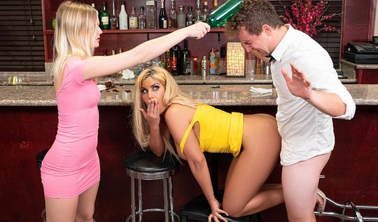 Mommy in the pose of cancer sticks juicy ass hole spanking in the bar