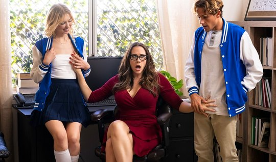 Mommy seduced young real couple for group flogging