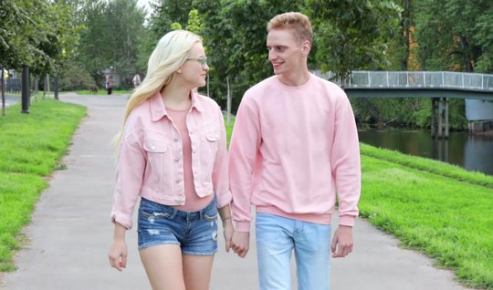 Young Russian blonde is not against of having sex after a pickup truck with a guy