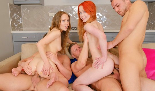 Tattooed Russian bitches take part in depraved orgies