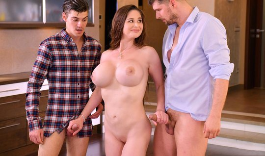 Two friends seduced friends mom and gave a double penetration